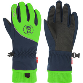 TROLLKIDS Trolltunga Gloves Kids navy/bright green